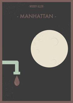 Le straordinarie locandine alternative di Manhattan #locandine #cinema #poster #alternative poster #manhattan #woody allen