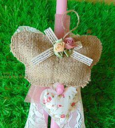 Λαμπαδίτσες για κορίτσια 2016 ~ Sugar & Pearls Easter Crafts, Burlap, Reusable Tote Bags, Hessian Fabric, Canvas