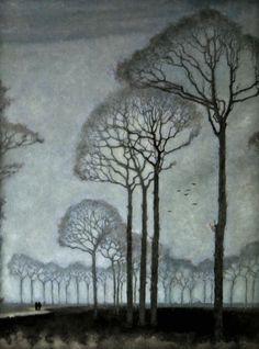 Mankes, Jan (Dutch, 1889-1920) | Row of Trees, 1915
