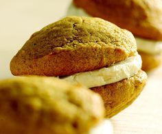 Pumpkin Whoopie Pies with Cinnamon Cream by Fine Cooking