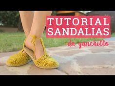 Tutorial sandalias de ganchillo | Crochet sandals - YouTube Love Crochet, Knit Crochet, Shoe Pattern, Crochet Videos, Crochet Slippers, Sock Shoes, Flip Flop Sandals, Leg Warmers, Sewing Hacks