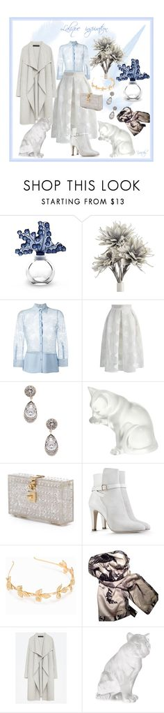 """Lalique inspiration look"" by yaschy ❤ liked on Polyvore featuring Lalique, Christopher Kane, Chicwish, Givenchy, Dolce&Gabbana, Alberta Ferretti, NLY Accessories, Roberto Cavalli, Zara and white"