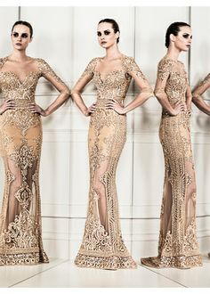 ZUHAIR MURAD 2014 Ready to Wear Collection 2014 Wedding Dress Trend - Lace & Embellishment, Colour http://www.zuhairmurad.com