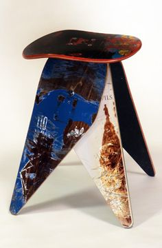 Recycled Skateboard Stool