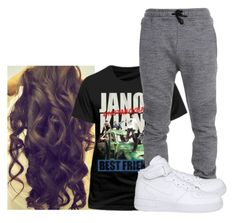 """""""i should be studying"""" by weyhey-12 ❤ liked on Polyvore featuring Balmain, NIKE, janoskians, BestFriends, AirForces and jahoojahaa"""