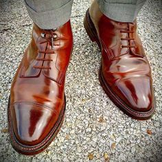 Harlech in Dark Brown Cordovan - photo credit Oxford Shoes Outfit, Men's Shoes, Shoe Boots, Dress Shoes, Shoes Style, Brown Dress Boots, Dress With Boots, King Shoes, Crockett And Jones