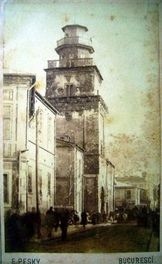 Turnul Coltei, E. Pesky, 1881 Bucharest Romania, History Of Photography, Notre Dame, Tourism, Communism, Memories, Cityscapes, Country, Compass