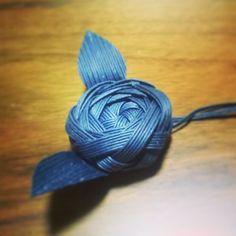 お花作ってみました #エコクラフト #クラフトテープ #ハンドメイド