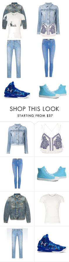 """""""Untitled #311"""" by kassidyrobinson on Polyvore featuring 3x1, River Island, Paige Denim, Burnetie, Nudie Jeans Co., Versace, Armani Jeans and Under Armour"""