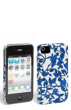 She does the prettiest prints -Diane von Furstenberg Saffiano Printed iPhone 4 & 4S Case | Nordstrom