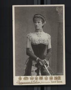 Duchess Sophie Charlotte in Bavaria byJungmann & Schorn Atelier, ca. 1880s-1890s Via: National Library of Austria