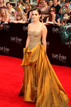 Emma Watson is a golden girl at Deathly Hallows NYC Premiere