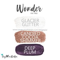 The Wonder Eye Trio uses three SeneGence ShadowSense: Glacier Glitter ShadowSense, Candied Cocoa Shimmer Shadowsense, and Deep Plum ShadowSense.  These cream to powder eyeshadows will last ALL DAY on your eye.  #shadowsense #eyeshadow