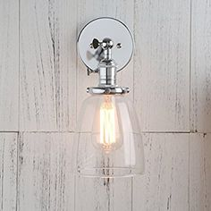 Permo Industrial Vintage Single Sconce With Oval Cone Clear Glass Shade 1-light Wall Sconce Wall Lamp (Antique)