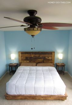 King Size Platform Bed DIY plans