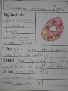 Mrs. T's First Grade Class: Snazzy Snacks recipe book - once a month, students write the recipe and practice making and eating the snack. At the end of the year they have a recipe book of healthy snacks to make at home. I love this! Great ELA/Health integration