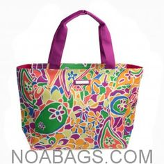 Jim Thompson Luxury Canvas Summer Bag Floral Multicolored