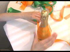 Как сделать красивые свадебные бутылки? - YouTube