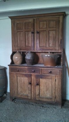 Prim cupboard at Firestone farm in greenfield village