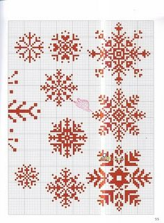snowflakes cross stitch.