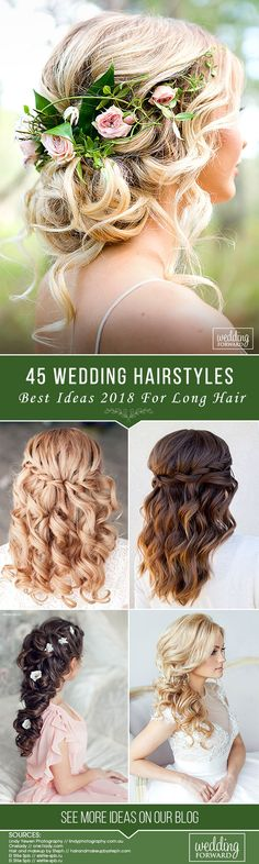 45 Best Wedding Hairstyles For Long Hair 2018 ❤ Are you looking for the best wedding hairstyles for long hair on your wedding day? Look through your gallery with best inspirational ideas of 2018. See more: http://www.weddingforward.com/wedding-hairstyles-for-long-hair/ #weddings #hairstyles #bridalhairstyle #weddinghairstylesforlonghair