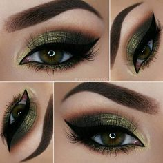 Trendy Makeup Ideas for Dark Green Eyes to Be the Hottest Woman ★ See more: https://makeupjournal.com/dark-green-eyes-makeup-ideas/ #greeneyemakeup