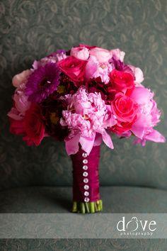 Magenta + Purple Hued #Wedding Bouquet I Majestic Moments Event Planning I http://www.weddingwire.com/biz/majestic-moments-event-planning-florham-park/portfolio/27eb699e37d347eb.html?page=1&subtab=album&albumId=dad555a474b9d508#vendor-storefront-content