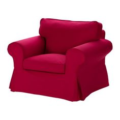 I would love to have two chairs like this on my front porch!    EKTORP Chair - Idemo red - IKEA
