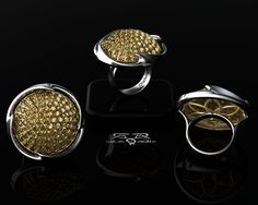 """""""Monument""""  To your Style, Your Success, and Your Status.    A towering example of fearless design, and expression of personal value. The Monument ring can not be missed.  Over an ounce of solid gold. A dome of Canary color enhanced diamonds weighing an astonishing 5.45 carats.     The Monument ring exudes fluidity, unapologetic boldness, and grace.     Limited Production.     As Shown: $14,921  DeMer Black Label"""