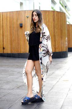Outfit: Maxi Kimono otoño 2015