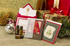 DoTerra Products: I use cinnamon bark oil or peppermint to scent my greeting cards.