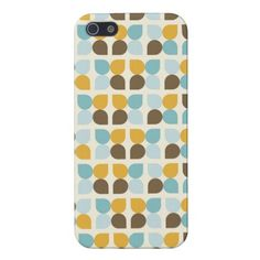 Blue Orange Tan Fall Colors Leaf Pattern Cover For iPhone 5