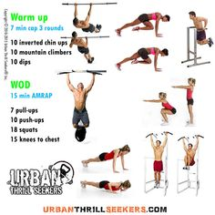 10 inverted chin ups, 10 mountain climbers, 10 dips, 7 pull-ups, 10 push-ups, 18…