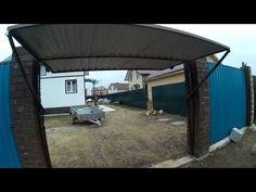 Подъемные ворота на даче без роликов - YouTube