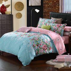 Lenjerie de pat HG114303 pentru 2 persoane  -1 x cearceaf de pat & 1 x husă pentru pilotă & 2 x fețe de pernă din bumbac 100% Comforters, Bedding, Blanket, Modern, Furniture, Beautiful, Design, Home Decor, Creature Comforts