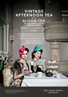 The Official ALISON TOD Blog: Vintage Afternoon Tea with The Angel Hotel