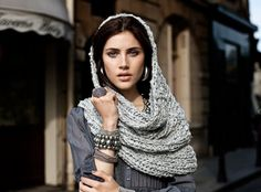 jewelry & scarf.