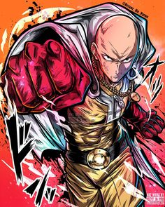 Saitama - One Punch Man Anime Gangster, One Punch Man Manga, One Punch Anime, Saitama One Punch Man, Susanoo, Anime One, Dope Art, Anime Artwork, Awesome Anime