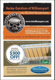 Harley Davidson Promotion! Williamsport, MD. www.whittingtonconstructiongroup.com. #harleydavidson #hd