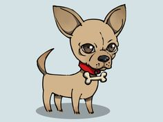 Learn how to draw a chihuahua. Let's begin! Draw a circle for the head and a small circle on the lower left for the snout.