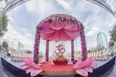 Are you looking for the perfect inspiration for your mandap decor? Let us enlighten you with some amazing mandap decor designs for 2020 weddings Desi Wedding Decor, Wedding Hall Decorations, Luxury Wedding Decor, Marriage Decoration, Wedding Mandap, Wedding Themes, Wedding Designs, Backdrop Decorations, Wedding Ceremony