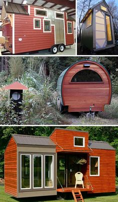 Tiny house exterior ideas -  To connect with us, and our community of people from Australia and around the world, learning how to live large in small places, visit us at www.Facebook.com/TinyHousesAustralia or at www.TinyHousesAustralia.com
