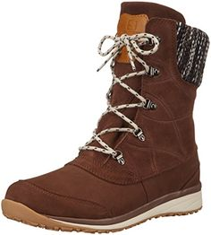 Salomon Womens Hime Mid LTR CSWP Snow Boot Dark Brown LeatherBlackLight Grey 75 D US -- You can find more details by visiting the image link.