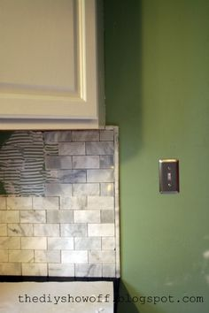 DIY Show Off ~ Marble Subway Tile Back Splash from Start to FinishDIY Show Off ™ – DIY Decorating and Home Improvement Blog