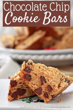 This is the EASIEST recipe you'll find for soft and chewy chocolate chip cookie bars. And it only takes 4 ingredients! https://thesearchforimperfection.com/chocolate-chip-cookie-bars/