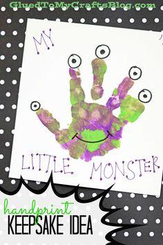 My Little Monster - Handprint Keepsake Idea