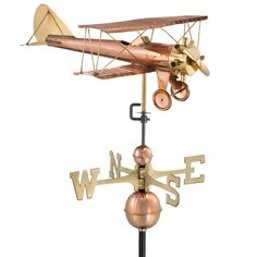 Large Biplane Weather Vane (Requires Mounting Hardware) - Sporty s Wright  Bros Barn Cupola 6995ec9213118