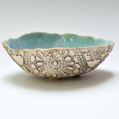 Handmade Ceramic Bowls Handmade bowl ceramic lace