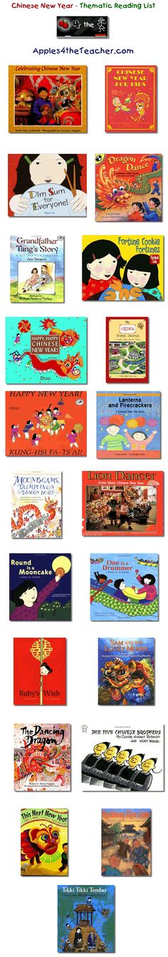 Suggested thematic reading list for Chinese New Year - Chinese New year books for kids. Chinese New Year Activities, Chinese New Year Party, New Years Activities, New Years Party, Book Activities, Reading Lists, Book Lists, Be Light, Chinese New Year Crafts
