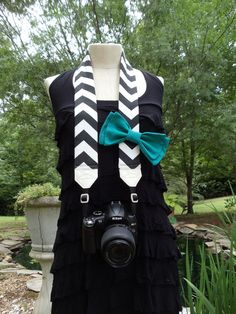 Chevron Camera Strap With Bow. $32.00, via Etsy. She does awesome work. Love her straps :)